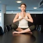 Practising yoga at work