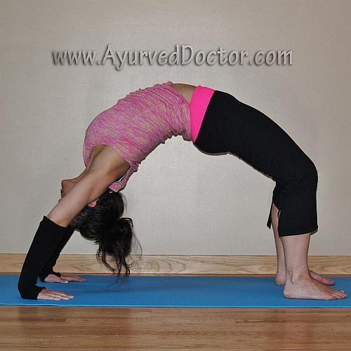 yoga position-Chakrasana