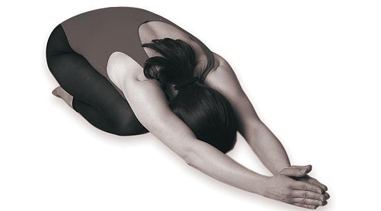 Sasankasana yoga pose