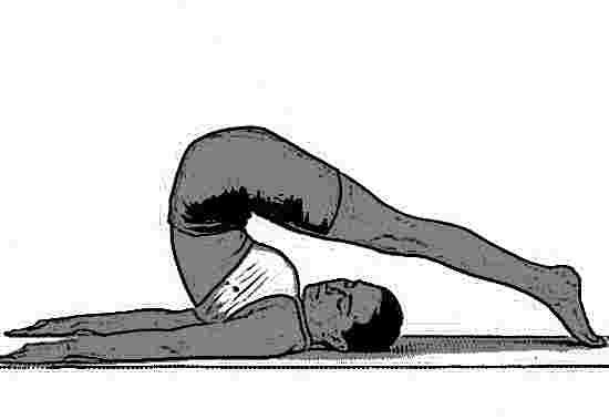 Halasana Yoga pose by a lady